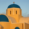 Blue Domed Church in the morning, Oia, Santorini, July 2005
