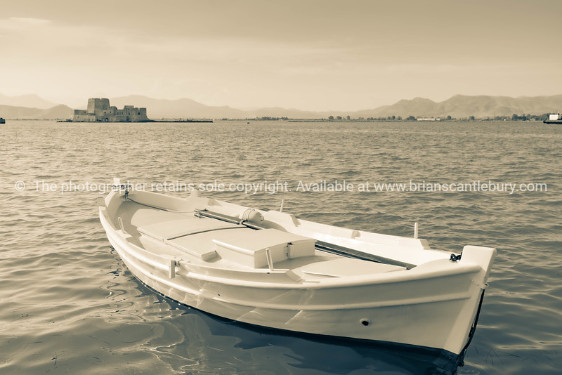 Traditional style Mediterranean small boat