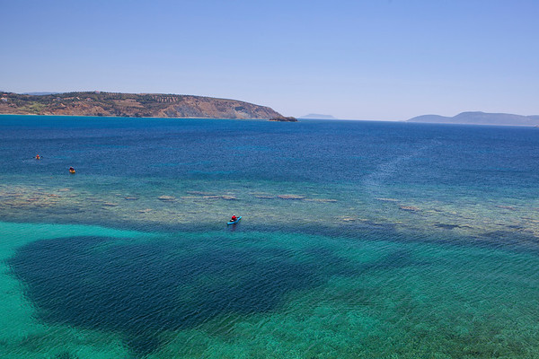 Kayaking Near Methoni