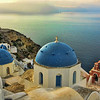 Two Blue domes, Oia, Santorini, July 2005