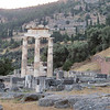 The Temple of Athena at Delphi.