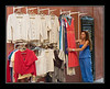 Corfu, alley clothing stall