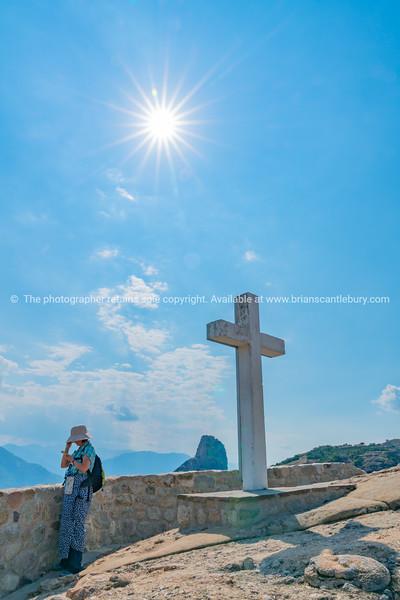 large white religious cross.