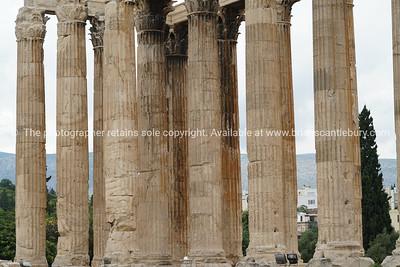 Pillars Temple of Zeus in monochrome, Athens, Greece.