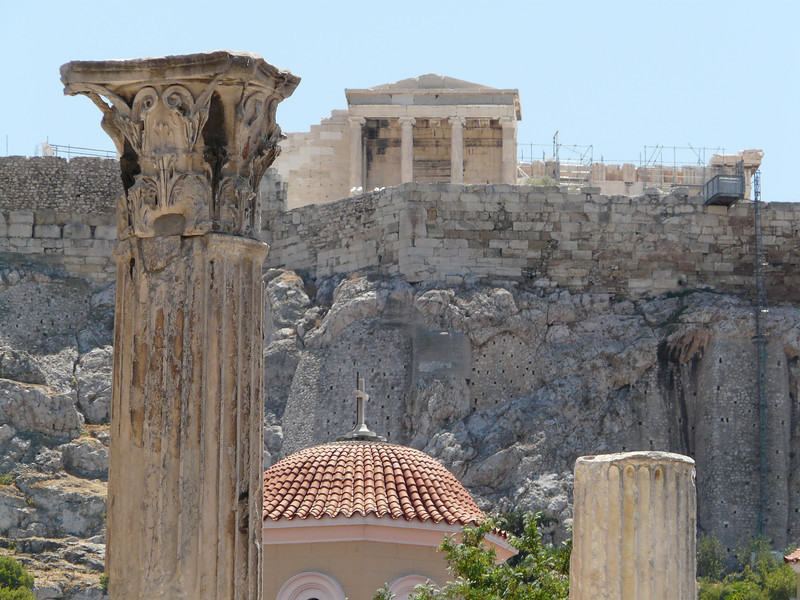 The Acropolis view from Plaka