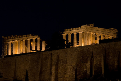 Parthenon, Darkness, Athens 600pix-6532