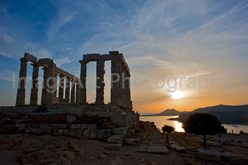 Temple of Poseidon at sunset