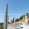Ancient city of Delphi ruins and diggings