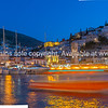 Town and waterfront of Hydra on Greek island