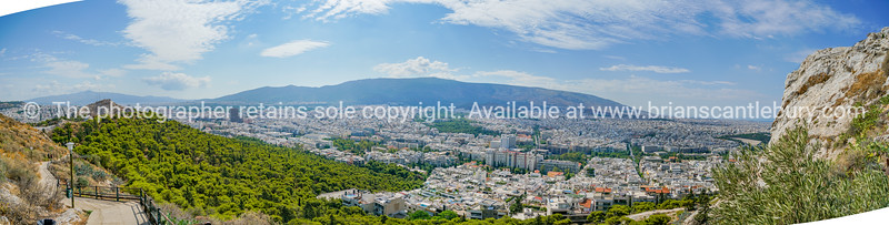 Athens panorama from slope of Mount Lycabettus.