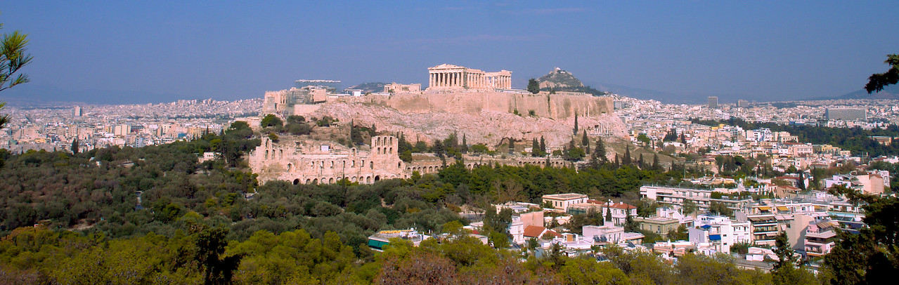 Acropolis Panorama by Alan Clay Knapp