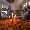 Interior small Greek Orthodox church beside highway