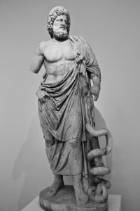 Statue of Asklepios from the Sanctuary of Asklepios in Epidauros (c. 160 AD copy of a 4th century BC original) National Archaeological Museum Athens, Greece