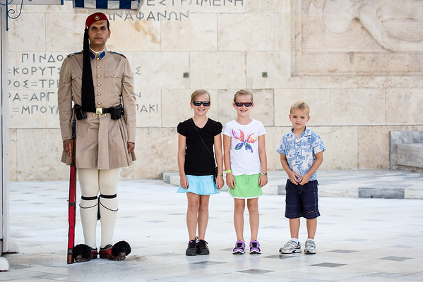 Guarding the Tomb of the Unknown Soldier at the Greek Parliament