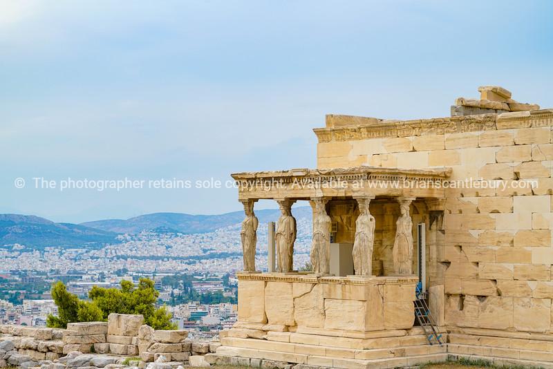 Decorative statues part of Temple of Erechtheion