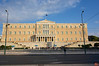 The Greek Parliament building, a neoclassical structure, was completed in 1843. It was originally a palace for the King before the 1924 referendum abolished the monarchy.<br /> DSC00068