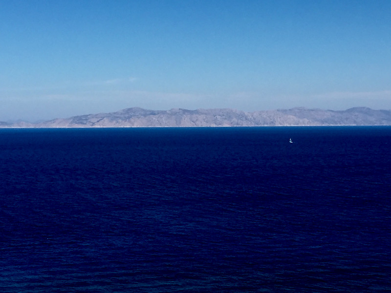 View of Turkish coastline from Rhodes