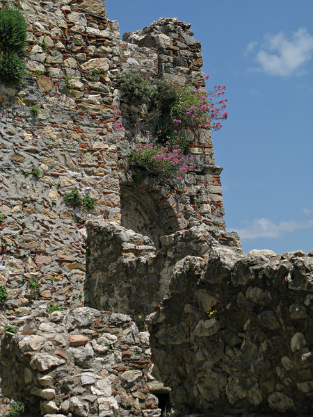 Ancient Mystras-fortified town in the Peloponnese