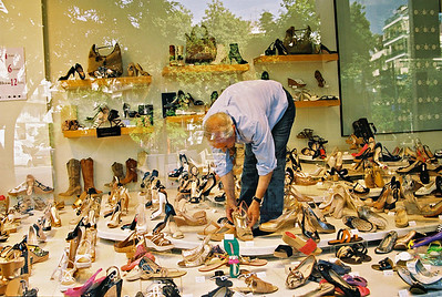 Got Shoes??   Athens-last day of trip,  OM4T  Kod 100UC about F5.6