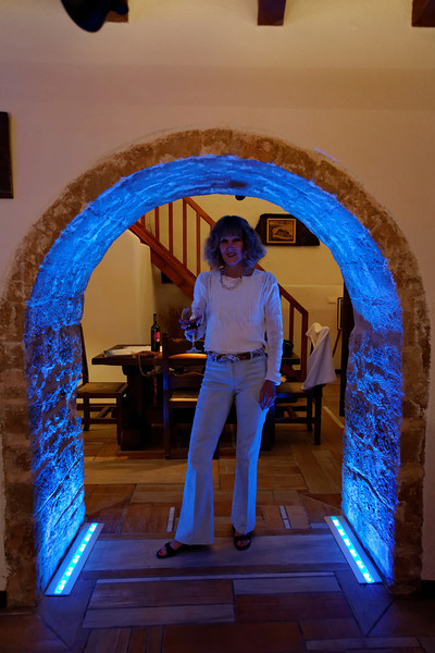 Monemvasia--our place had some funky lighting.