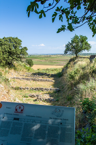 View from ancient Troy towards the sea