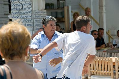 A drunken brawl.