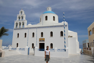 Santorini - This super cool island was named after the Church of Saint Irene who the locals called Irini giving us Santorini.