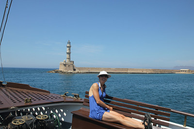 Sail boat ride in Chania, Crete