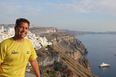 Santorini - These villages are all planted along the cliff side of the caldera.