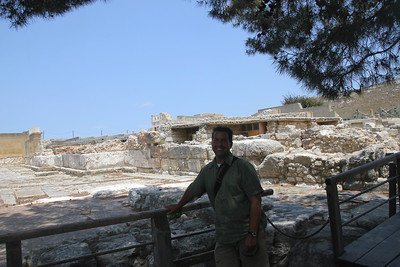 Palace at Knossos (the Labyrinth).  We actually learned that the palace was called Labyrinth after the double sided ax (labyrs) which was it's emblem.  The palace was so big and intricate and easy to get lost in that Labyrinth became synonymous with maze.