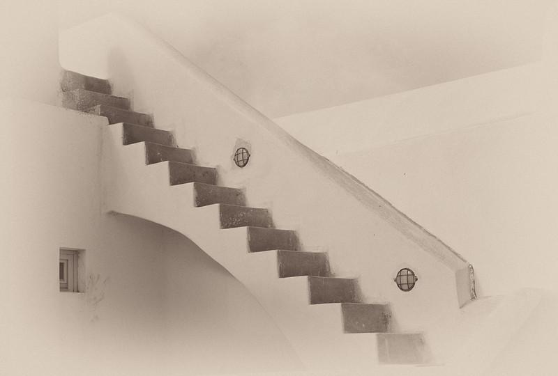 Stairway, Santorini, Greece