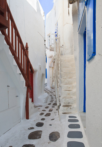 Mykonos alley, Greece