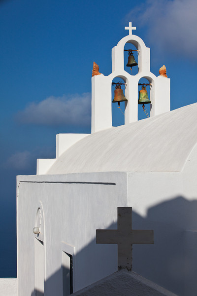 Church and Bells, Oia, Santorini, Greece