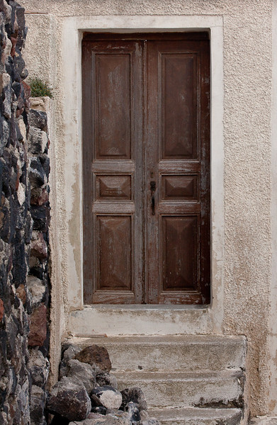 Old Door, Santorini, Greece