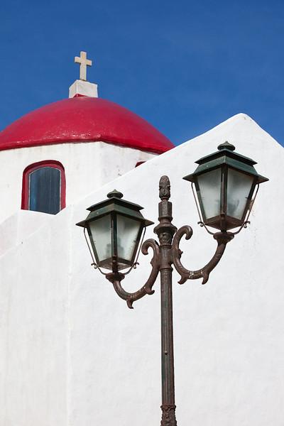 Street Lamp, Mykonos, Greece