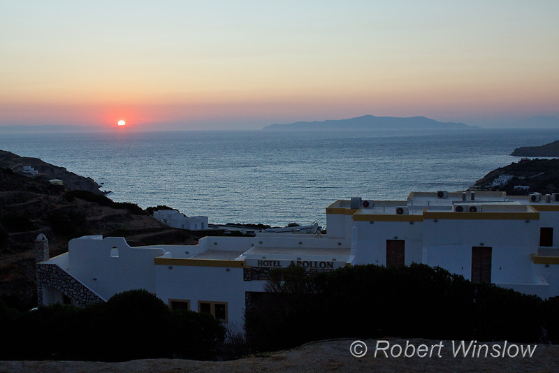Sunset, Kini, Island of Syros, Cyclade Islands, Aegean Sea, Greece