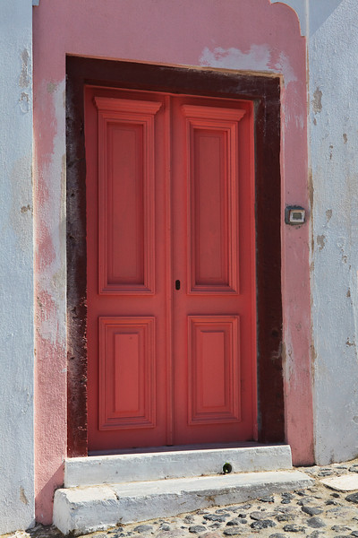 Doorway, Santorini, Greece