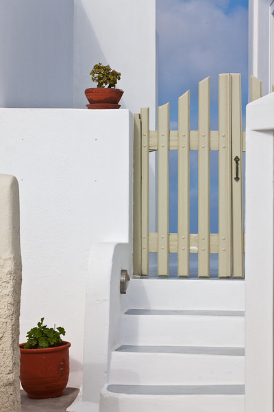 Gate, Oia, Santorini, Greece