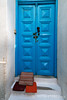 Blue Doorway, Island of Mykonos, Cyclade Islands, Aegean Sea, Greece