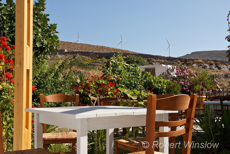 Windmills, View from Tavren, San Michalis, Island of Syros, Cyclade Islands, Aegean Sea, Greece
