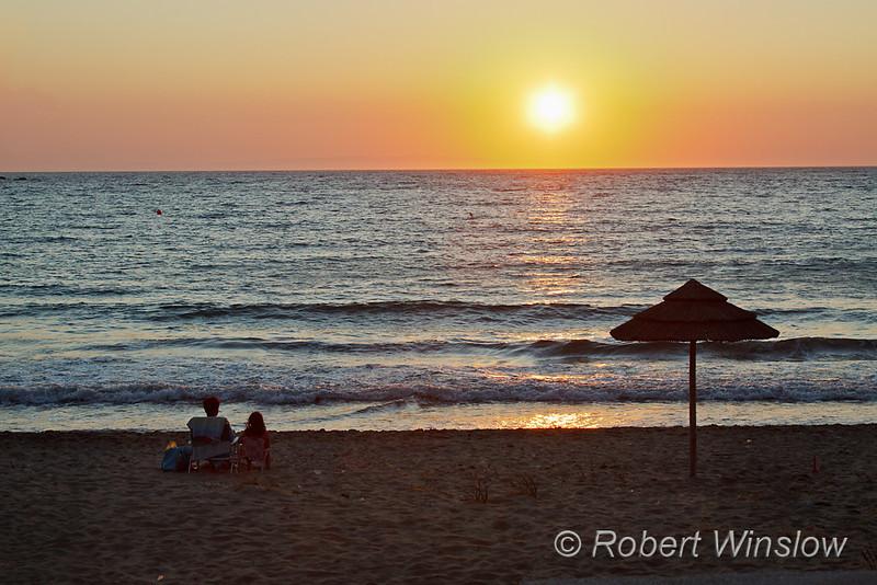 NoMR, Sunset, Beach, Kini, Island of Syros, Cyclade Islands, Aegean Sea, Greece