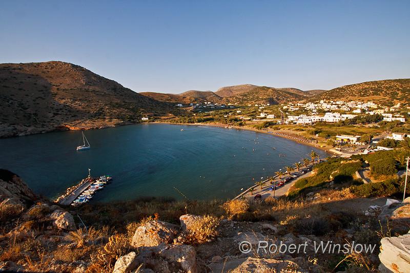 Boats, Beach, Galissas, Island of Syros, Cyclade Islands, Aegean Sea, Greece