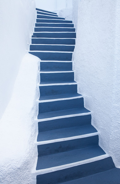 Stairs, Santorini, Greece