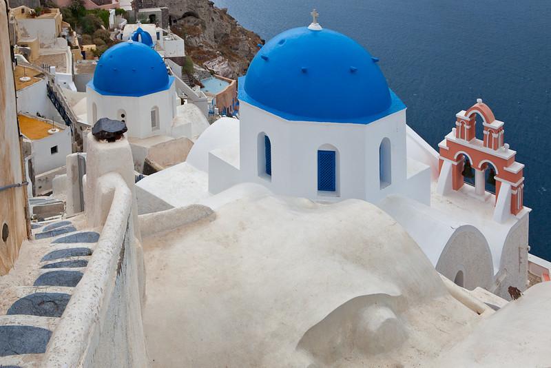 Blue domes, Santorini, Greece