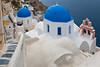 Blue domes, Santorini, Greece