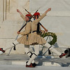 Evzones protect the Tomb of Unknown Soldiers in Athens.