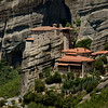 Cliff top monasteries in Meteora, Greece.