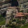 Cliff top monasteries in Meteora, Greece.
