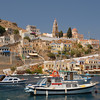 Symi harbor in Dodecanese, Greece