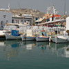 Still day in the harbor on Paros, Greece